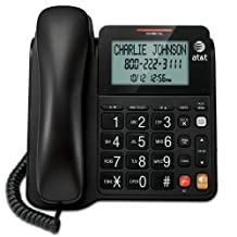 AT&T CL2940BK Corded Speakerphone with Large Display, Black