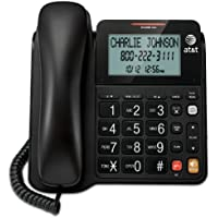 AT&T CL2940 Corded Phone with Speakerphone, Extra-Large Tilt Display/Buttons, Caller ID/Call Waiting and Audio Assist, Black