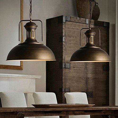 Light Hanging Copper (Ladiqi Vitnage Pendant Light Copper Dome Industrial Ceiling Light Chandelier For Barn Kitchen)