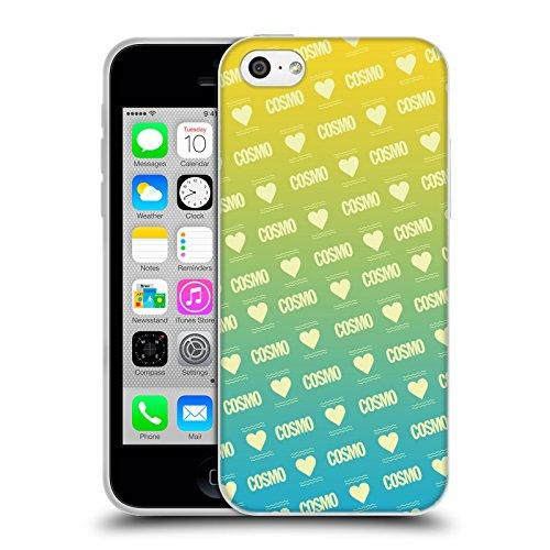 Official Cosmopolitan Ombre Love Logo Soft Gel Case for Apple iPhone 5c