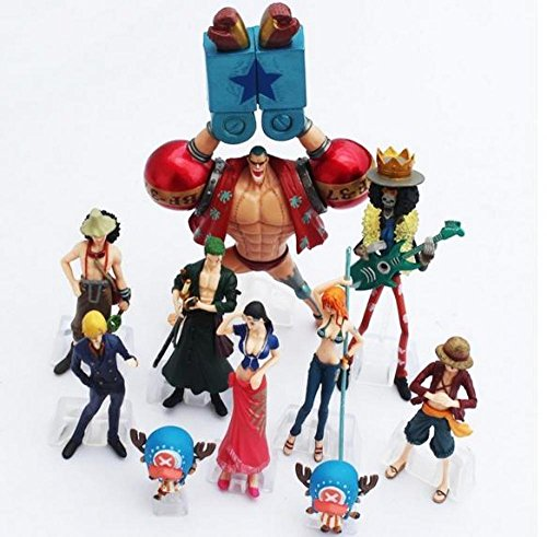 10pcs/set Hot Anime One Piece pvc Action Figure doll toys Collection dukke Figur helte