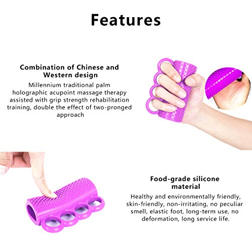 Silicone Cone Hand Grip | Finger Ball Exerciser Grip Ball,for Stroke Hemiplegia and Postoperative Hand Rehabilitation, Strengthen Hands, Durable and Easy to Clean