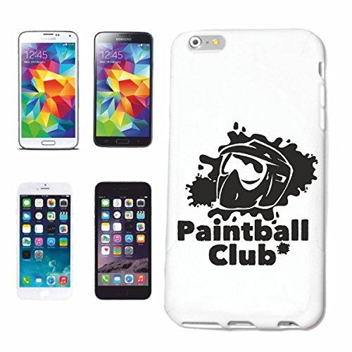 """cas de téléphone iPhone 6S """"PAINTBALL CLUB PAINTBALL CLUB ÉQUIPE BOULES COULEUR PAINTBALL GUN MARQUEUR PAINTBALL SHOP"""" Hard Case Cover Téléphone Covers Smart Cover pour Apple iPhone en blanc"""