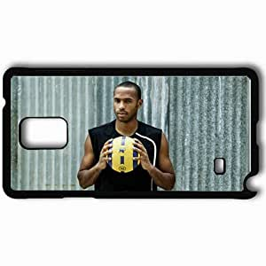 Personalized Samsung Note 4 Cell phone Case/Cover Skin 14Henry Football Federation Of France Thierry Henry Arsenal FC Barcelona Football Black
