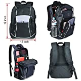Cheap Laptop Backpack for Men Women – Fits up to 15.6 inch Laptop Computer – Best USB Charging Backpack for College Work – Student Backpack for 13 14 15 Laptop – Travel Carry on w Luggage Strap – 30l Black