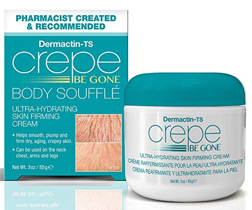 518 1u5LXqL - Dermactin-TS Crepe Away Body Souffle 3 oz. - for Dry Aging & Crepey Skin, Smoothes Plumps & Firms Skin, Deeply Moisturizes Skin, Can Be Used On Neck, Chest, Arms & Legs