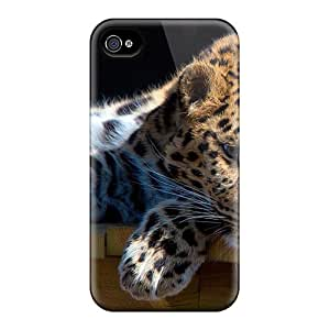 Iphone 4/4s Case Cover With Shock Absorbent Protective BksJWgv7391CereF Case