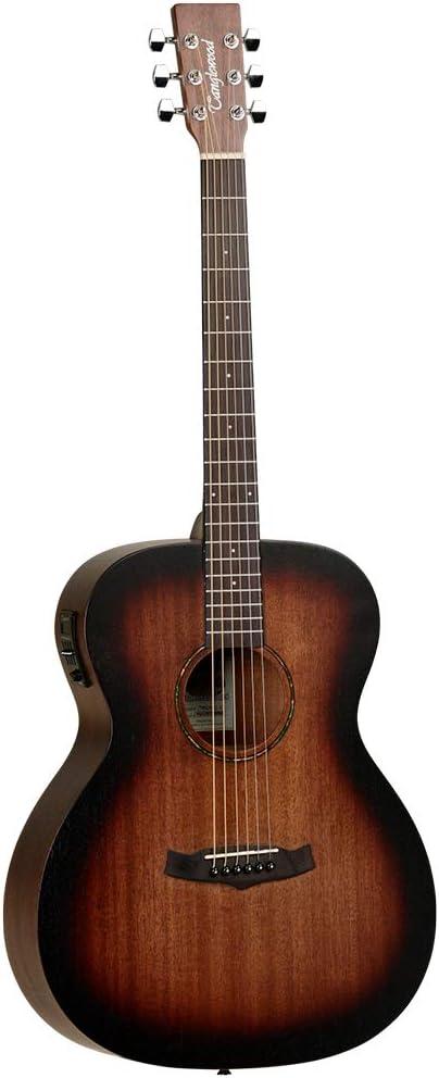 Tanglewood TWCROE - Guitarra folk electrificada, color naranja