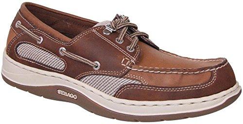 Sebago Men's Clovehitch II Boat Shoe,Dark Taupe/Dark Brown,9.5 WW US