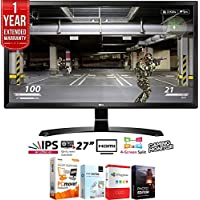 LG 27UD58-B 27 4K Ultra HD (3840 x 2160) IPS Freesync LED Monitor + Elite Suite 18 Standard Editing Software Bundle + 1 Year Extended Warranty