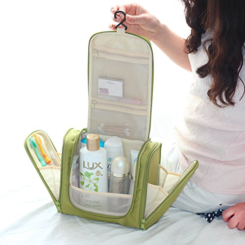 Cosmetic Organizer Large Capacity Hanging Travel Toiletry Kit Bag  Multicolour