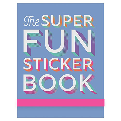 Eccolo Fun Sticker Book Pad, Lavender Super Fun, Cute Art and Fun Sayings, 5x7 Inches