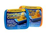 Rapid Mac Cooker - Microwave Boxed Macaroni and Cheese in 5 Minutes, Easy Lunch & Dinner - 2 Pack