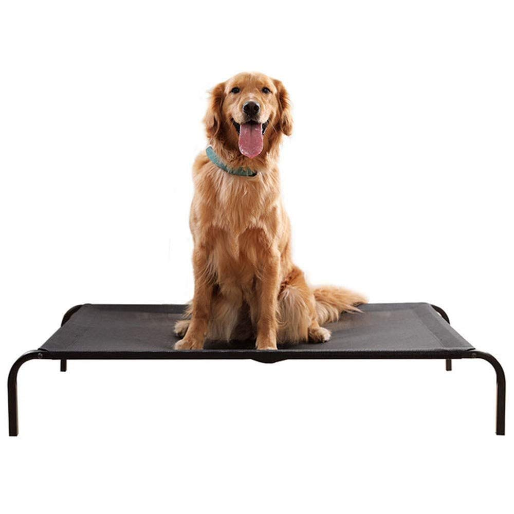 XL Summer Pet Mat, Pet Nest Four Seasons Mesh Breathable Big Dog Bed, Elevated Dog Bed Portable Waterproof Outdoor Raised Camping Pet Basket (Size   XL)