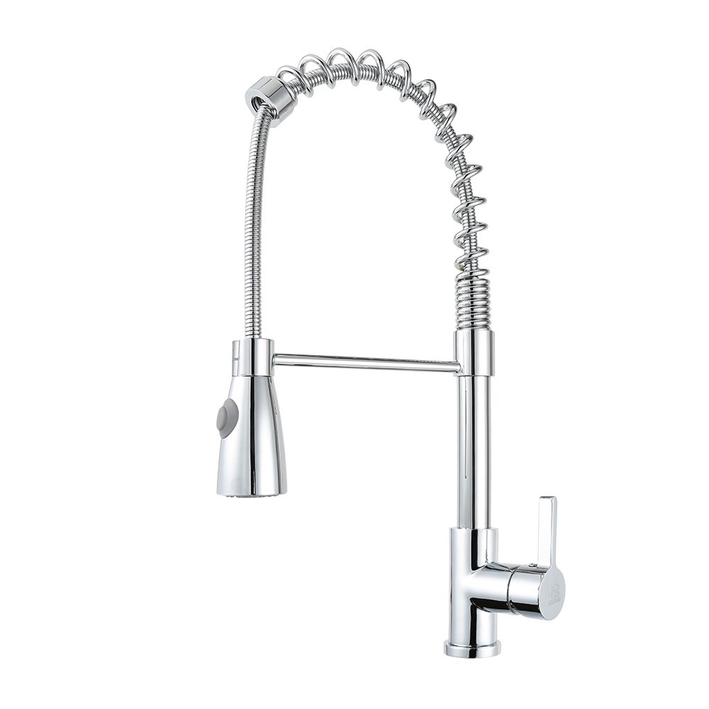 HOMESHOW Single Lever Pull Down Kitchen Faucet Chrome C03 1080 ...