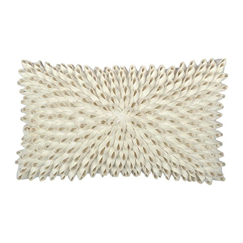 KingRose Handmade 3D Rectangle Decorative Throw Pillow Cover