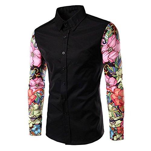 と交渉するカバーwlgreatsp 婦人向け 袖口プリント ステッチングシャツ