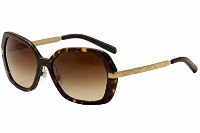 burberry sunglasses womens h4ho  Burberry Women's BE4153Q Dark Havana/Brown Gradient Sunglasses