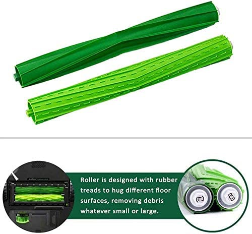 Taoric Replacement Parts for iRobot Roomba s9 (9150) s9+ s9 Plus (9550) s Series Vacuum Cleaner Dual Multi-Surface Rubber Brushes
