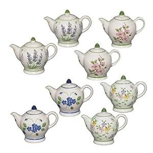 Andrea by Sadek Porcelain Teapot Salt & Pepper Shakers (4)