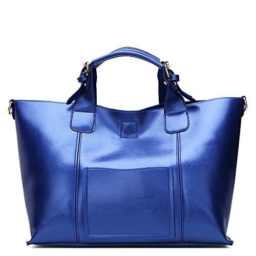 DHFUD Bolso De Hombro De La Mujer Messenger Bag Atmósfera Simple Blue