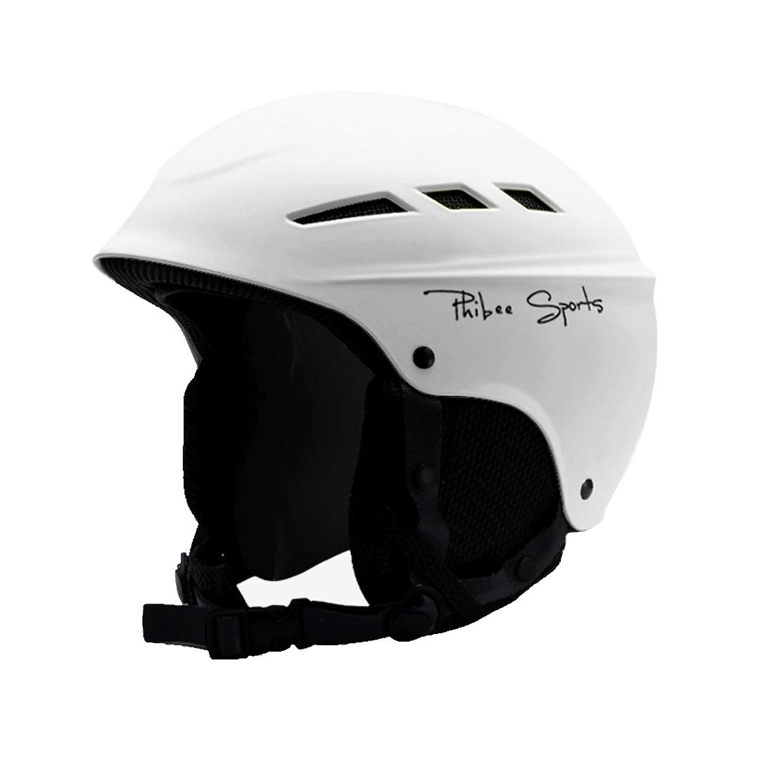 プロフェッショナルスキー用保護ヘルメットシングルおよびダブルプレート8通気孔PCシェル調節可能バックル親子保護用ヘルメット、サイズ:L、5662 cmにフィット,   B07MY2YDVY