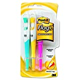 #1: Post-it Flag+ Highlighter, Yellow, Pink, and Blue, 50-Color Coordinated Flags/Highlighter, 3-Pack