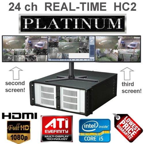 24ch 720 FPS Real-Time at 4CIF H.264 Hybrid DVR Video Surveillance Server: eDigital D1-HC2 Platinum, 4U, i7, 3yr