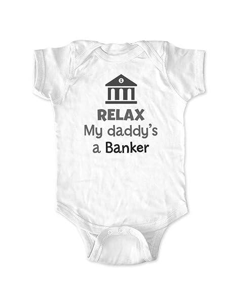 Amazon.com: Relax My Daddy s un banquero – Body de bebé ...
