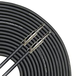 GLS Audio 25 feet Speaker Cable 16AWG Patch Cords - 25 ft 1/4\