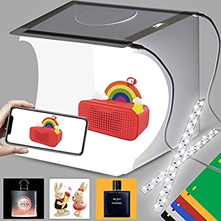 DUCLUS Mini Photo Studio Light Box,Photo Shooting Tent...