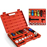 DSstyles 22 Pcs Fuel Air Conditioning A C Transmission Line Disconnect Oil Cooler Tool Set