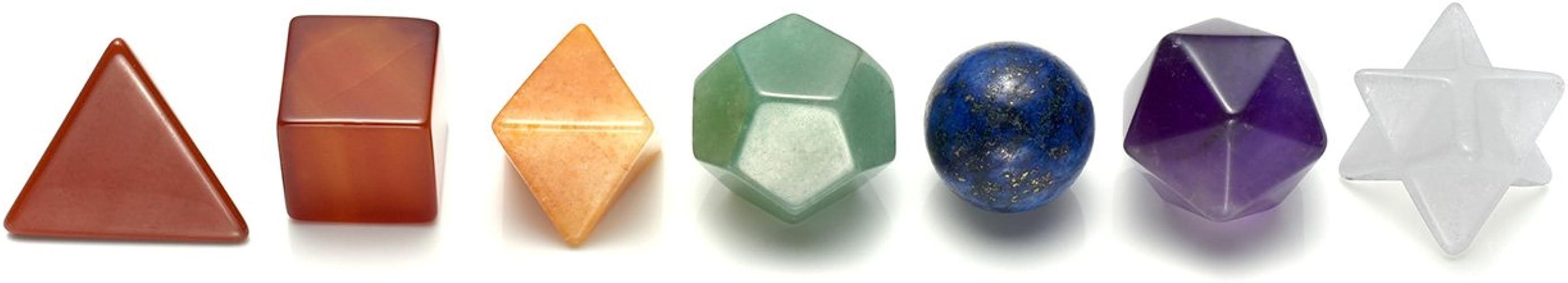 Dibiao 7Pcs Pierres de Chakra Couleurs Assorties Pierre de Cristal de Gu/érison Reiki Naturelle avec Symboles Grav/és
