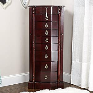 hives and honey francesca jewelry armoire antique cherry amazoncom antique jewelry armoire