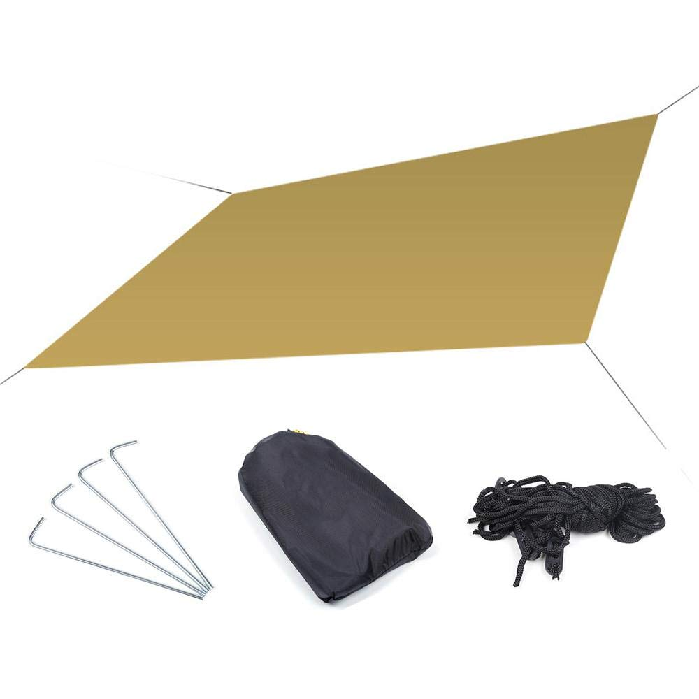 toldos vela impermeables exterior,Womdee toldos vela rectangular,protecci/ón Rayos UV Impermeable para Patio Exteriores Color Arena,180x145 cm Jard/ín
