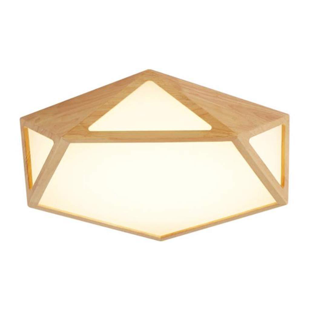 中空ウッドランプリビングルームランプの寝室は天井灯を導きました 58 cm  B07SWWZ7R2