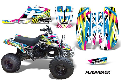 Parts Banshee Atv (Yamaha Banshee Fullbore Plastics ATV All Terrain Vehicle AMR Racing Graphic Kit Decal FLASHBACK)