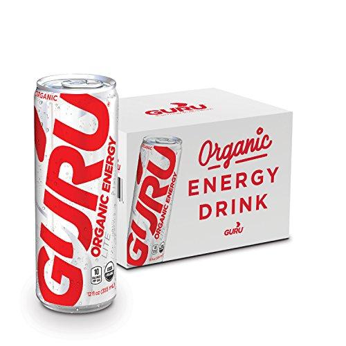 GURU Lite Organic Low Calorie Energy Drink with Green Tea, 12 Ounce (Pack of 12), Stevia & Monk Fruit ... (Best Way To Make Green Tea Taste Good)