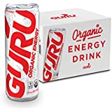 GURU Lite Organic Energy Drink – Low Calorie, Vegan, All Natural Energy Booster – Experience Energy Without the Jitters, Rush or Crash – 12x 12oz / 355ml Cans