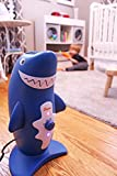 Crane USA Air Purifiers - Adorable Shark Air Purifier with True HEPA Filter UV Sanitizer Captures Allergens Smoke Odors Mold Dust Germs Pets Smokers for home bedroom kids child baby and nursery