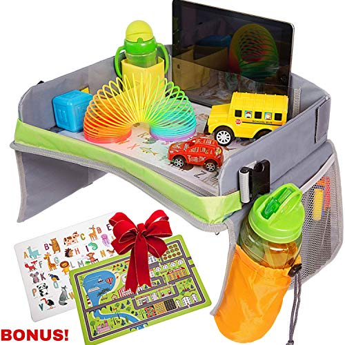 Bulabee Kids Travel Tray for Car Seat, Perfect Toddler Activity Play Organizer - Organiser Car Toys Kids