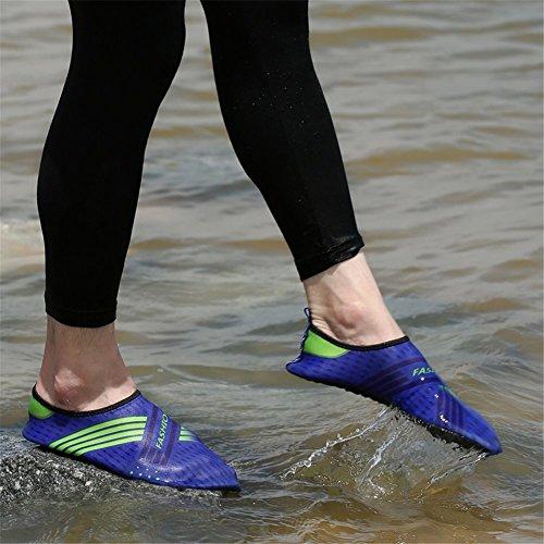 Lanma Barefoot Sneldrogend Water Sportschoenen Huid Aqua Sokken Voor Zwemmen Strand Zwembad Surfen Yoga Mannen Vrouwen Kinderen Blauw