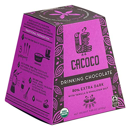 CACOCO 80% Extra Dark Drinking Chocolate (7.05 ounces)
