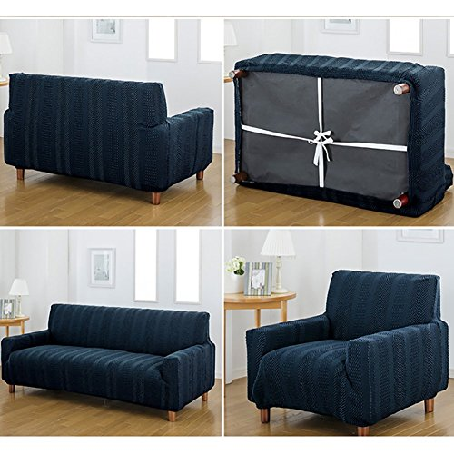 Waterproof Stretch couch covers,Elastic Sofa slipcover Full-cover Antiskid sofa towel cover For living room-B Chair by AMYDREAM (Image #4)
