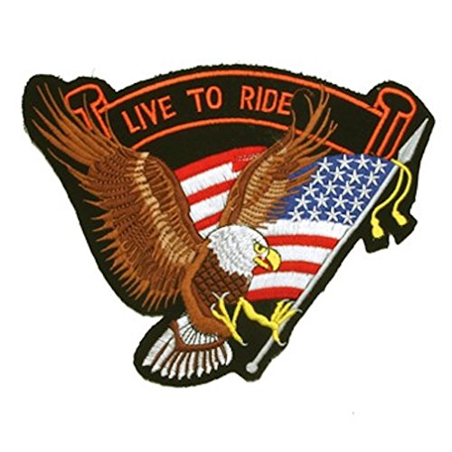 """Eagle American Flag """"Live to Ride"""" Medium Motorcycle for sale  Delivered anywhere in USA"""