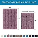 Mauve Bathroom Rugs Ultra Thick and Soft Texture
