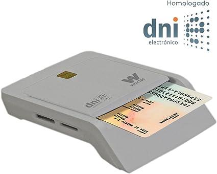 Woxter Lector Dni Combo - Lector DNI electrónico, Compatible con Las Tarjetas Smart Cards o Tarjetas Inteligentes, con 3 Ranuras para Tarjetas, Color Blanco: Amazon.es: Informática