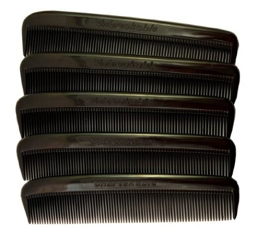"""Price comparison product image Set of 10 Clipper-mate Pocket Combs 5"""" All Fine Teeth"""