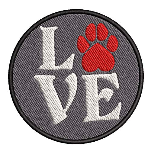 Love - Red Paw Print - 3.5