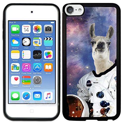 - [TeleSkins] - Rubber TPU Case for iPod Touch 5 / iPod Touch 6 - Hipster Astronaut Llama Galaxy - Ultra Durable Slim Fit, Protective Plastic with Soft Rubber TPU Snap On Back Case/Cover.